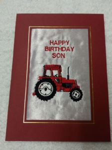 HAPPY BIRTHDAY CARD - Tractor - Red